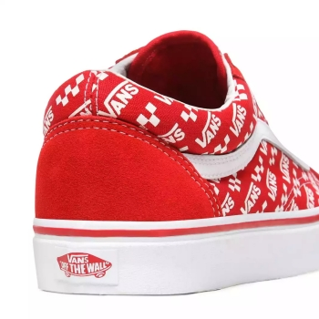 U Old Skool Buty Vans (Logo Repeat) Racing Red/true VN0A4U3BW351