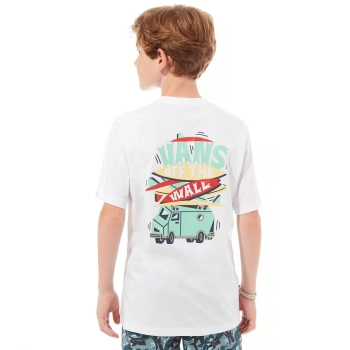 T-shirt Dziecięcy Vans Boarded Up Ss Boy White VN0A49OKWHT1
