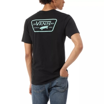 T-SHIRT VANS  FULL PATCH BACK S BLACK/DUSTY JAD VN0A3H5KYLO1