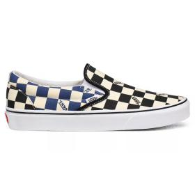 Vans Classic Slip on (Over Washed) Checkerboard Dress Blue