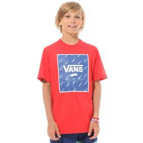 T-SHIRT DZIECIĘCY PRINT BOX BOYS RACING RED/SODA VN0A318NYMS1