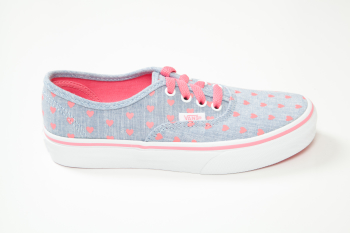 K AUTHENTIC - (Chambray Hearts) blue/true white