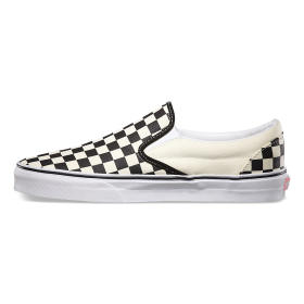 U CLASSIC SLIP-ON black and white checker/white