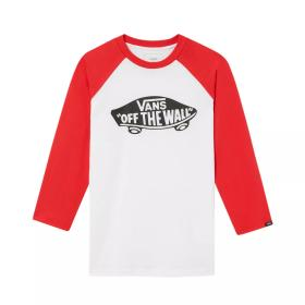 OTW RAGLAN BOYS WHITE/RACING VN000XOBKSF1