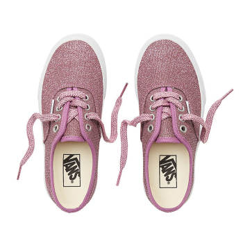 K Buty Authentic (Lurex Glitter) Pink/True White VANS