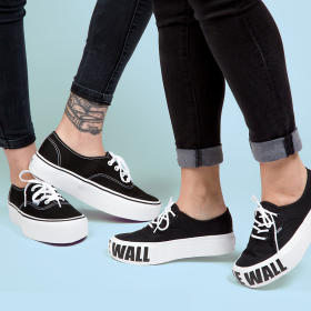U Buty AUTHENTIC PLATFOR BLACK VANS